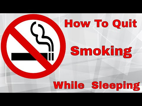 How To Quit Smoking Cigarettes While Sleeping