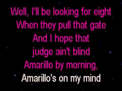 Amarillo By Morning George Strait Karaoke.wmv - YouTube