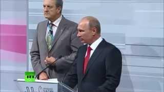 Путин в Казани говорит по-татарски