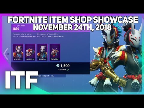 Fortnite Item Shop *NEW* TARO AND NARA SKINS! [November 24th, 2018] (Fortnite Battle Royale)