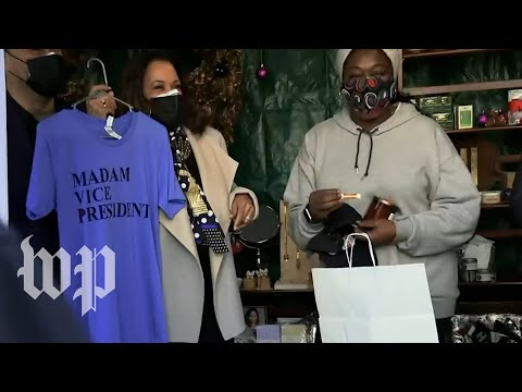 Harris voices support for small businesses at D.C. holiday market | 202DC