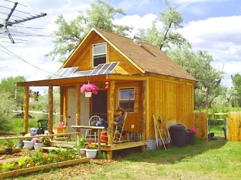 How To Build A 14x14 Solar Cabin Youtube