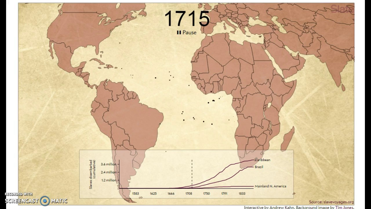 Animation of African Slave Ship Trade Routes Remember Every DOT Equals 1 Slave Ship. POWERFUL