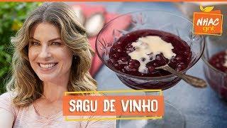 Sagu de vinho tinto com creme inglês: aprenda a fazer doce irresistível | Rita Lobo |Cozinha Prática