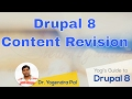Content Revision in Drupal 8 | Yogi's Guide to Drupal 8 Basics | Hindi / Urdu