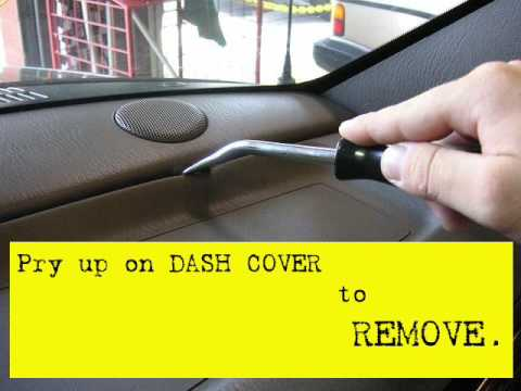 remove and install jeep grand cherokee dash speakers tweeters 1999 2004 youtube. Black Bedroom Furniture Sets. Home Design Ideas