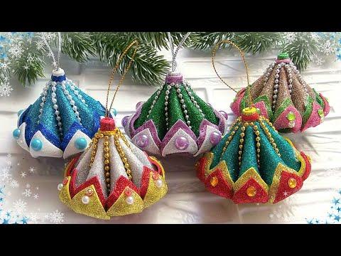 🎄 Ёлочные игрушки из фоамирана 🎄 Diy Christmas Ornaments