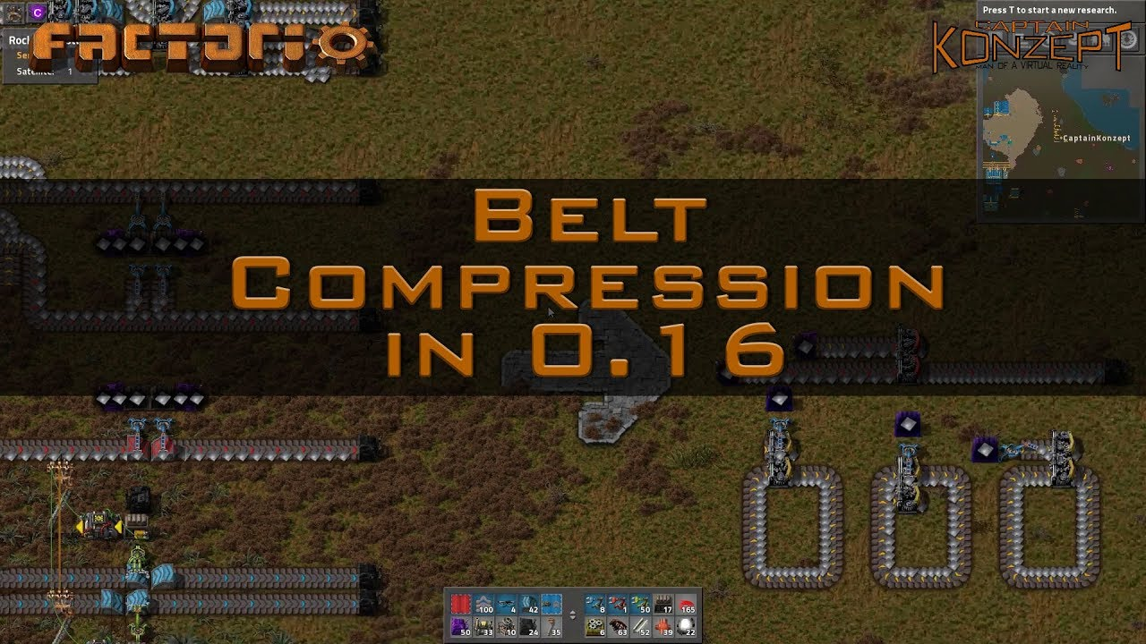 Belt Compression in Factorio 0 16