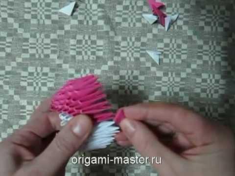 модульное оригами птички Angry