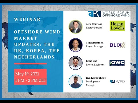 Webinar: Offshore Wind Market Updates in The UK, Korea, and The Netherlands (May 2021)