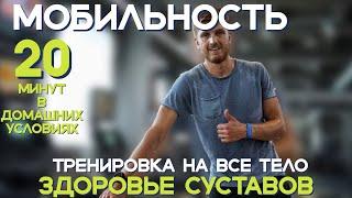 Тренировка на УКРЕПЛЕНИЕ ЗДОРОВЬЕ СУСТАВОВ и СВЯЗОК    20  минут физическая активность ВСЕ ТЕЛО