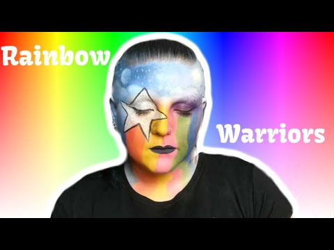 Rainbow Warrior  Makeup/Body Paint Tutorial thumbnail