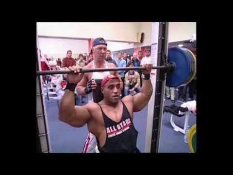 Dennis James in Estonia 2006 triceps shoulders workout www.trainhard.ee