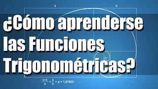 Como aprenderse las funciones trigonométricas