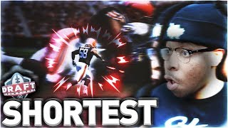😂THE SHORTEST PLAYERS IN THE NFL DRAFT! DRAFTING THE SHORTEST PLAYERS IN EVERY ROUND OF MUT DRAFTS!