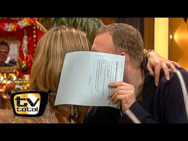 Ann-Kathrin Kramer & Stefan Raabs intimer Moment - TV total