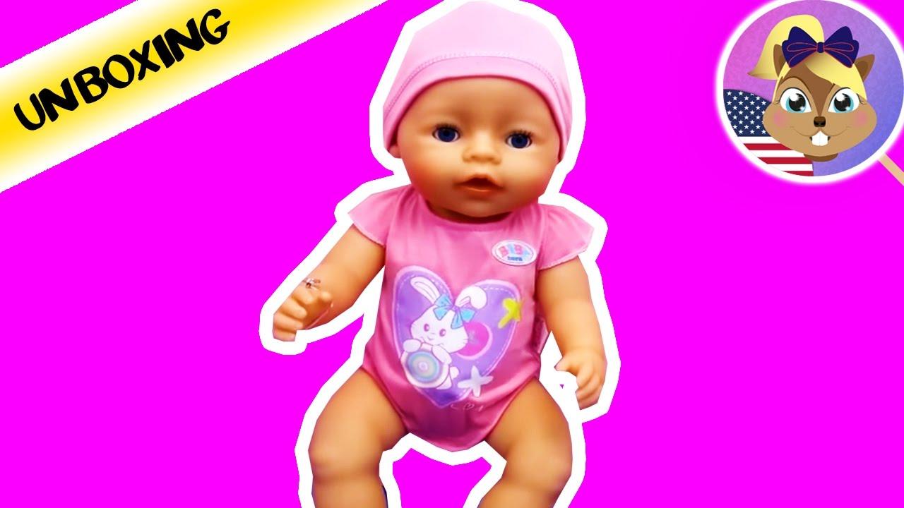 Zapf Creation Baby Born Interactive Doll Babygirl