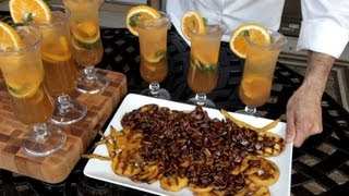 Grilled Bourbon Drunken Fruit Recipe With Cocktail From Fruit Marinade - On Blaze Gas Grill