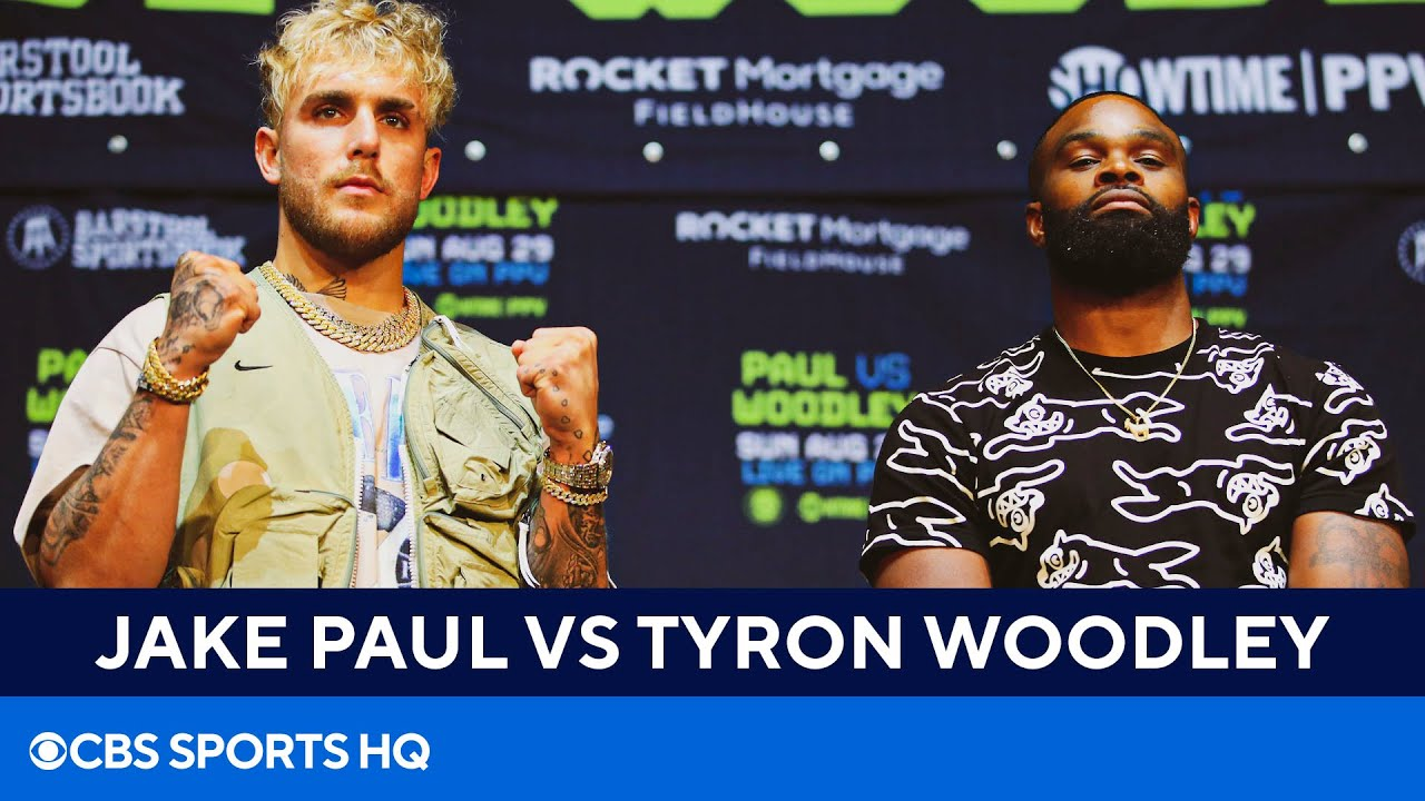 Jake Paul vs Tyron Woodley: BEST MOMENTS from fight press conference | CBS  Sports HQ - YouTube