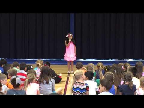 Juliana 2015 Kinder Ranch Elementary School Talent Show