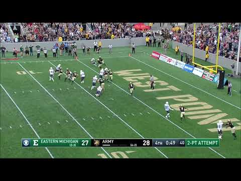 Army Football: Gibby Gibson Game-Saving Tackle Vs. Eastern Michigan 10-14-17
