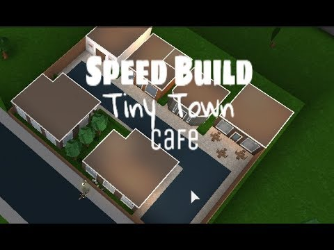 Building A Mini Town Roblox Welcome To Bloxburg 1 - Cafe Tiny Town Speed Builds Bloxburg