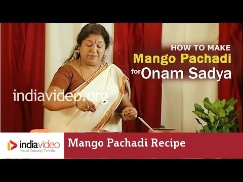 How to Make Mango Pachadi - Manga Pachadi Recipe for Onam Sadya