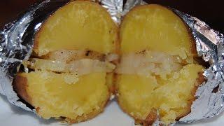 Рецепт. Картошка запеченная в духовке. Очень полезное блюдо.