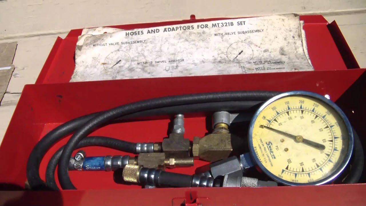 Snap-On MT321B  Fuel Pressure gauge set  Inspection