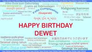 Dewet   Languages Idiomas - Happy Birthday