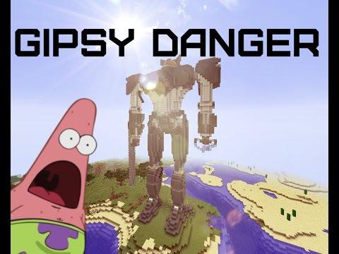 Егерь Бродяга (Gipsy Danger) из к/ф Тихоокеанский рубеж в Minecraft