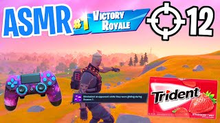 ASMR Gaming Fortnite Satisfying 😴 Solo Relaxing Gum Chewing 🎮🎧 Controller Sounds + Whispering 💤