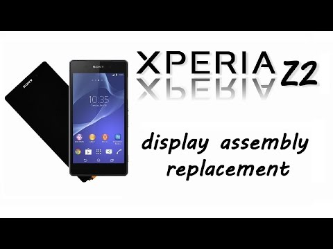 Sony Xperia Z2 - Touch Screen, Glass, Digitizer & LCD Display Replacement, Disassemble, Repair Guide