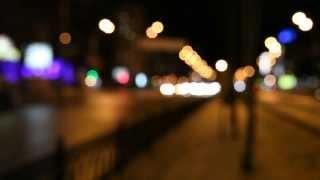Тестовое видео  Sigma 35mm 1.4 DG HSM A боке ночью