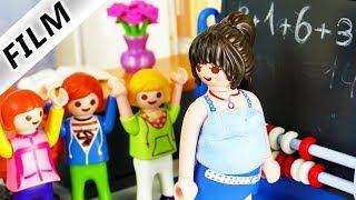 Playmobil Film deutsch   Was ist mit MATHELEHRERIN los? Schwanger? Krank? Kinderserie Familie Vogel