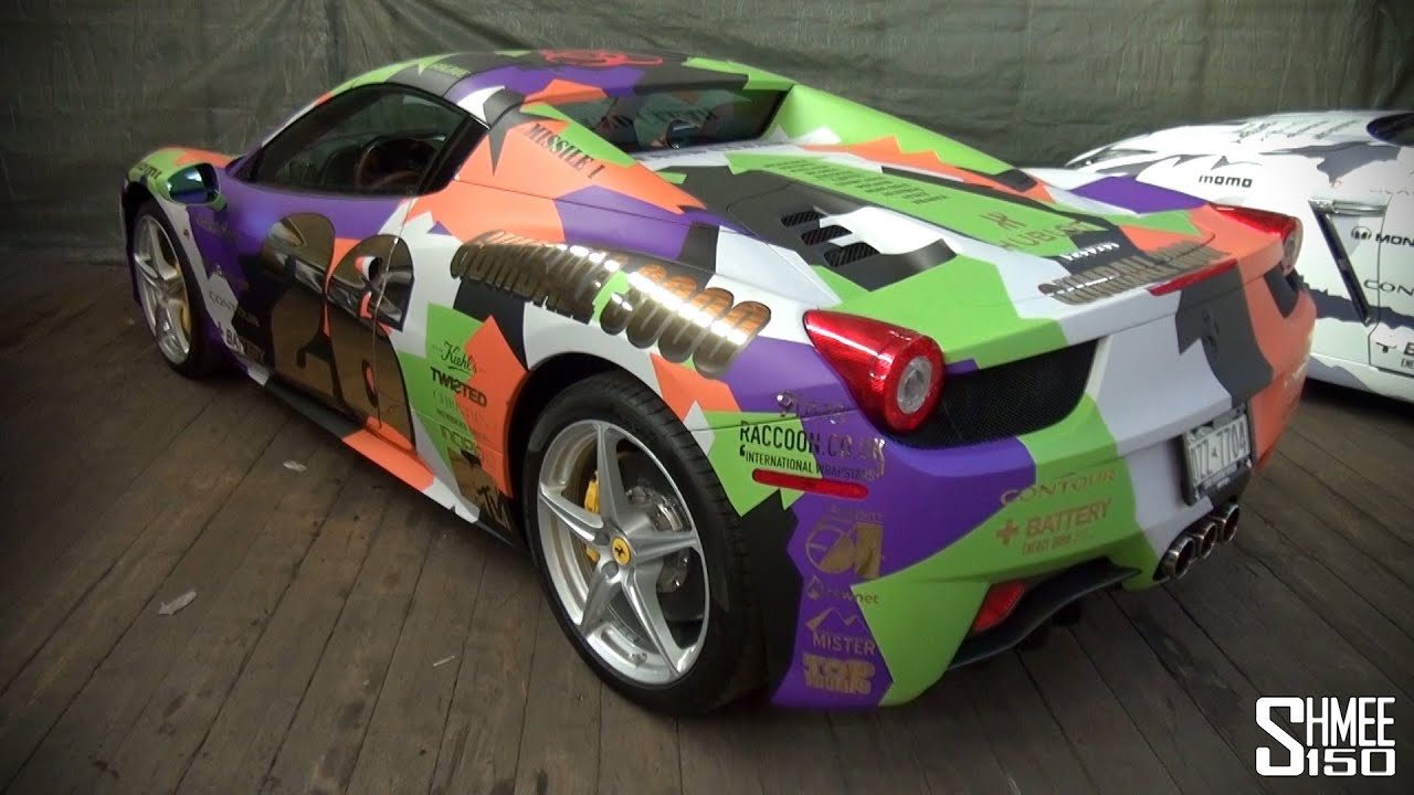 Gumball 3000 2013 Ferrari 458 Spider Team 26 Multi