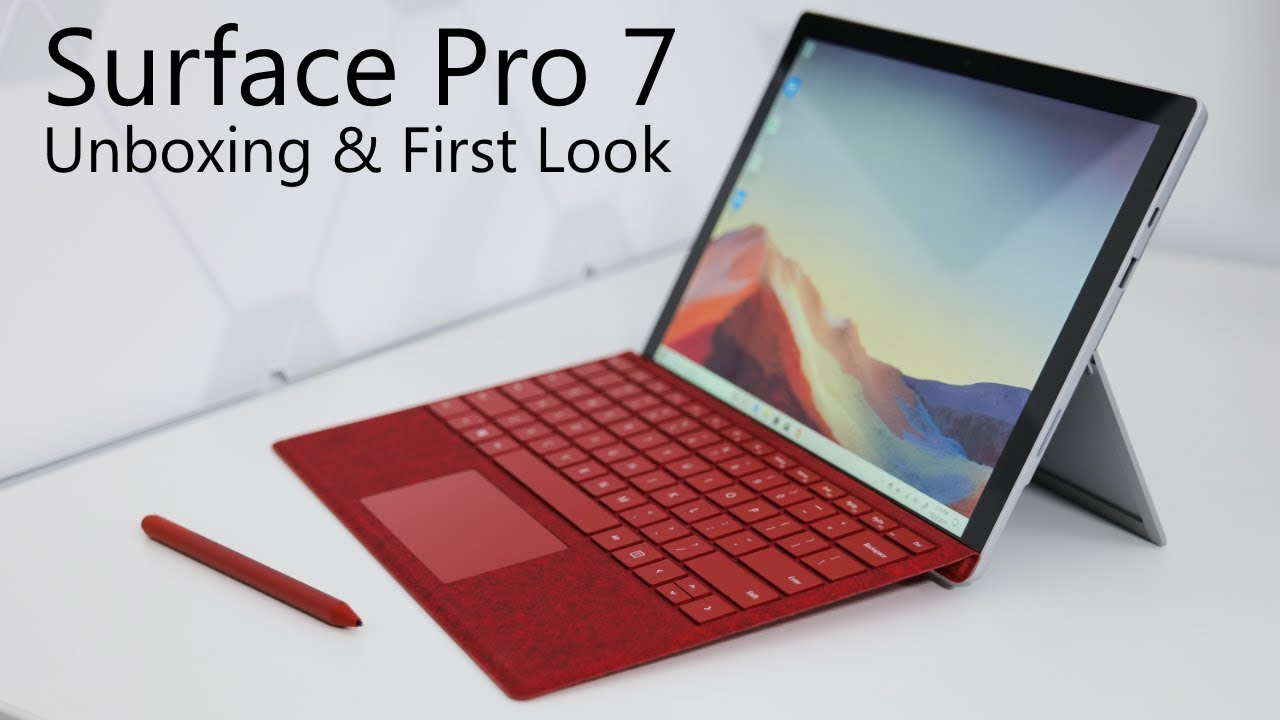 Surface Pro 7 Unboxing Setup And First Look Youtube