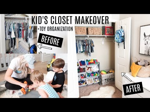 HOW TO ORGANIZE TOYS   KIDS CLOSET DECLUTTER WITH ME
