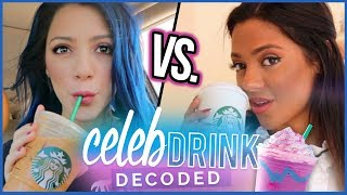 TASTING NIKI & GABI'S STARBUCKS DRINKS? | Celebrity Drinks Decoded