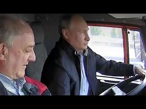 Putin drives truck