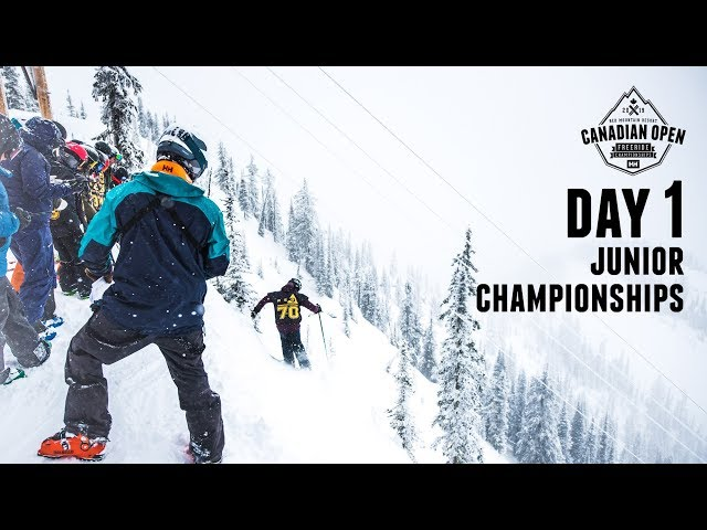 Day 1: 2019 Canadian Open Freeride Junior Championships