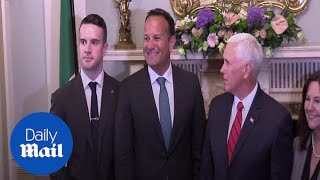Mike Pence's full sp encourages Ireland to respect Brexit process