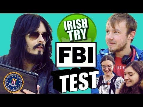 Irish People Try America's FBI Special Agent Test!! - (Street Challenge)
