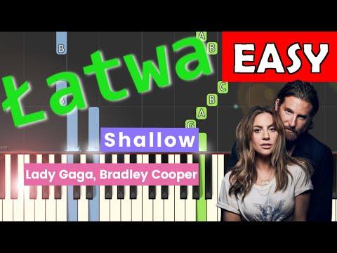 🎹 Shallow (Lady Gaga, Bradley Cooper) - Piano Tutorial (łatwa wersja) (EASY) 🎹