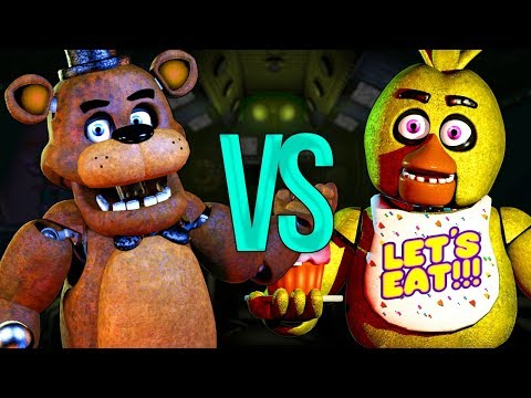 ФРЕДДИ VS ЧИКА | СУПЕР РЭП БИТВА | Freddy Fazbear Five Nights At Freddy's ПРОТИВ Chica Аниматроник thumbnail