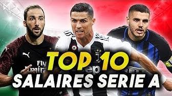 LE SALAIRE DE CRISTIANO RONALDO A LA JUVE ! TOP 10 SERIE A
