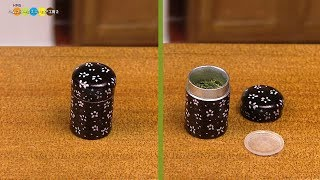 DIY Miniature Japanese Tea Caddy ミニチュア茶筒作り