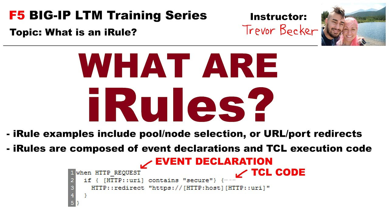 What is an iRule? | Video 11 | Free F5 LTM load balancer training videos