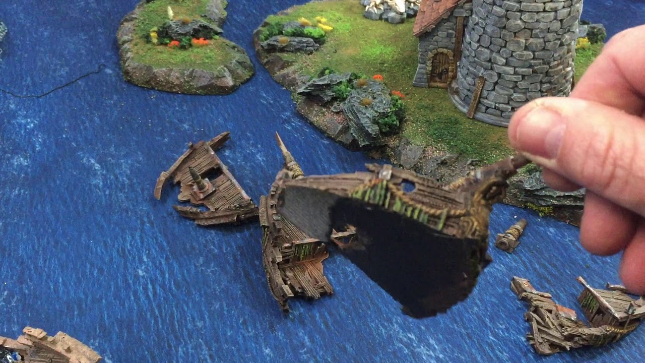 How to modify the 3d printed Shipwreck from www printablescenery
