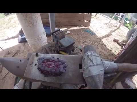 Crafting Damascus Steel from Old Chainsaw-Chain